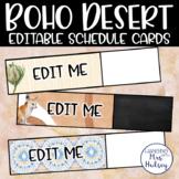 Editable Boho Desert Schedule Cards
