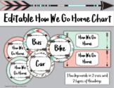 Editable Boho Theme How We Go Home Chart