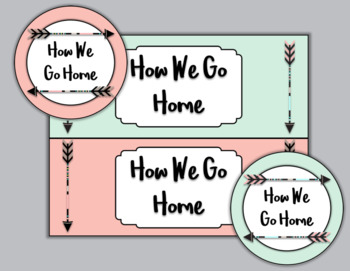 Editable Boho Theme How We Go Home Chart