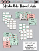 Editable Boho Theme Labels
