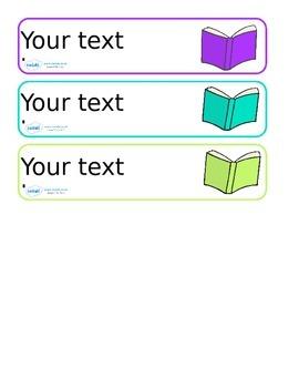 Editable Book Band / Shelf Labels