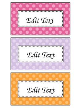 Editable Book Basket Labels