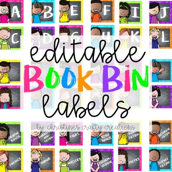 Editable Book Bin Labels