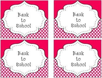 Editable Book Bin Labels (Brights & Polka Dots
