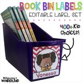 Editable Book Bin Labels - Chevron