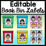 Editable Book Bin Labels {40 Different Styles with 5 different Nationalities!}