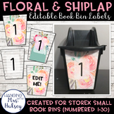 Editable Book Bin Labels (Floral and Shiplap)