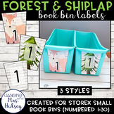 Editable Book Bin Labels (Forest and Shiplap)