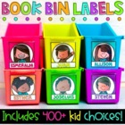Book Bin Labels - Editable Name Tags {290 Choices}