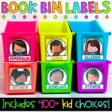 Book Bin Labels - Editable Name Tags {400+ Choices}