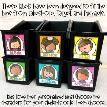 Book Bin Labels | Editable Name Tags | Classroom Jobs