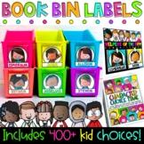 Book Bin Labels | Editable Name Tags | Classroom Jobs