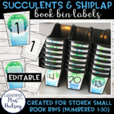 Editable Book Bin Labels (Succulent and Shiplap)