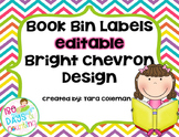Book Bin Labels~Editable (bright chevron)