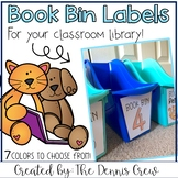 Editable Book Bin Labels for Classroom Library
