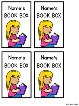 Editable Book Box Labels