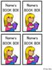 Editable Book Box Labels