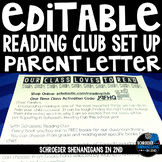 Editable Book Club Parent Letter