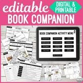 Editable Book Companion for Any Book : No Print & Printabl