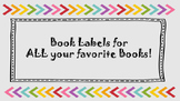 Ready to Print Book Labels for baskets