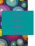 Editable Book Labels Freebie