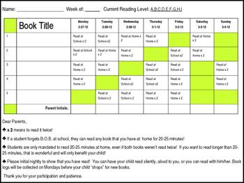 Editable Book Log