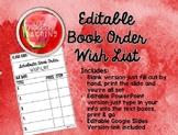 Editable Book Order Wish List