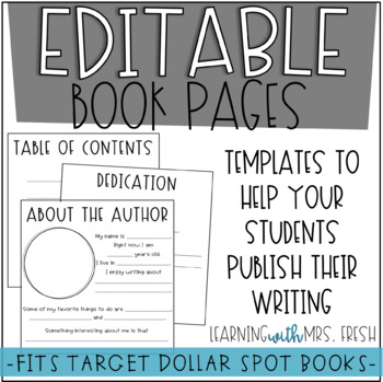 Editable Book Pages