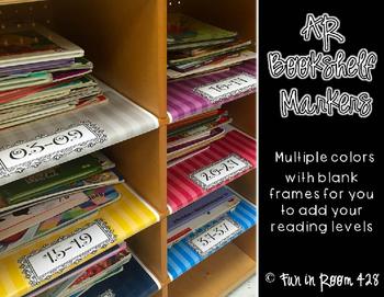 Editable Book Shelf Labels