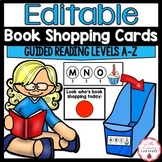 Editable Book Shopping Cards For Read to Self Book Boxes