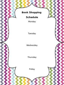Editable Book Shopping Chart: Chevron Print