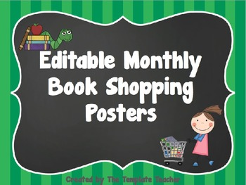 Editable Book Shopping Posters Freebie