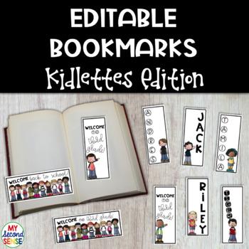 Editable Bookmarks - Kidlettes Edition