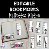 Editable Bookmarks- Kidlettes Edition: Back to School/Stud