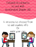 Editable Bookmarks for Accelerated Reader