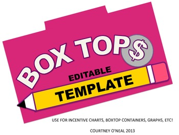 Editable Boxtop Template FREEBIE
