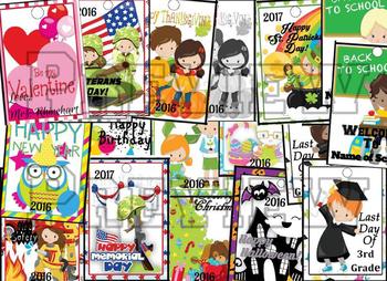 Editable Brag Book and Editable Holiday Brag Tags Bundle!