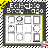 Editable Brag Tag Templates
