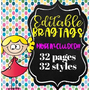 Brag Tags!! Editable and Auto Populating!!