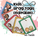 Brag Tags Editable (45 Templates!) | Digital Stickers | Digital Brag Tags