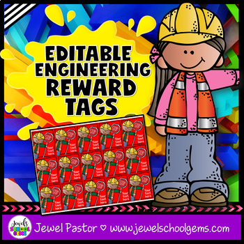 Editable STEM Brag Tags (Engineering Brag Tags)