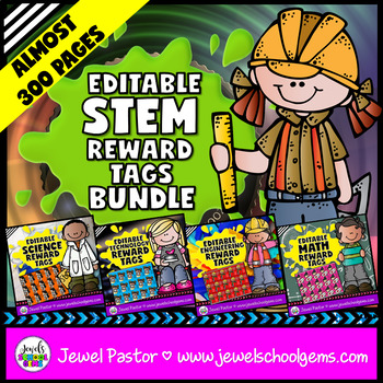 Editable STEM Brag Tags BUNDLE