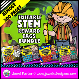 Editable STEM Reward Tags BUNDLE