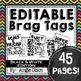 Editable Brag Tags Bundle #3   Digital Stickers   Digital Brag Tags for Distance