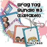 Editable Brag Tags Bundle #3 | Digital Stickers | Digital