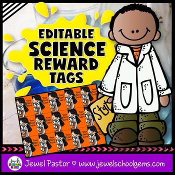 Editable STEM Reward Tags (Science Reward Tags)
