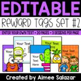Reward Tags {Editable Set #2}