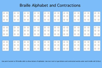 photograph relating to Braille Printable identified as Editable Braille Worksheet - Adobe Photoshop, Printable, Editable