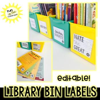 Editable Brick Library Bin Labels