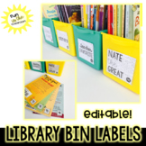 Library Labels (Editable) With book tags